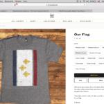 Fleur de lys t-shirt, Dirty Coast